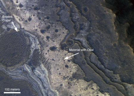Mars : la question de l'eau Opale